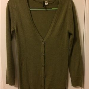 Olive green H&M cardigan